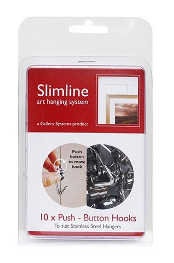 Slimline Push Button Hooks The Gallery Systems