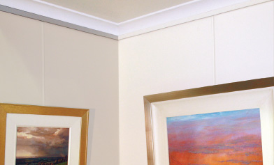 slimline picture hanging systems gallery systems. Black Bedroom Furniture Sets. Home Design Ideas